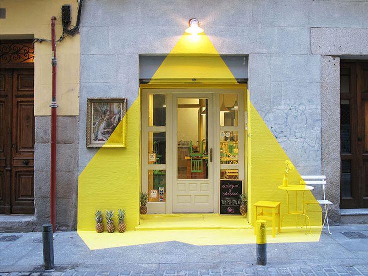 Intervención fachada restaurante, Madrid, grupo Fos