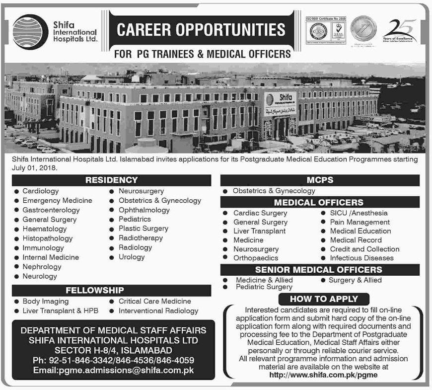 PG Trainee Jobs for Doctors, Residency Jobs 2018