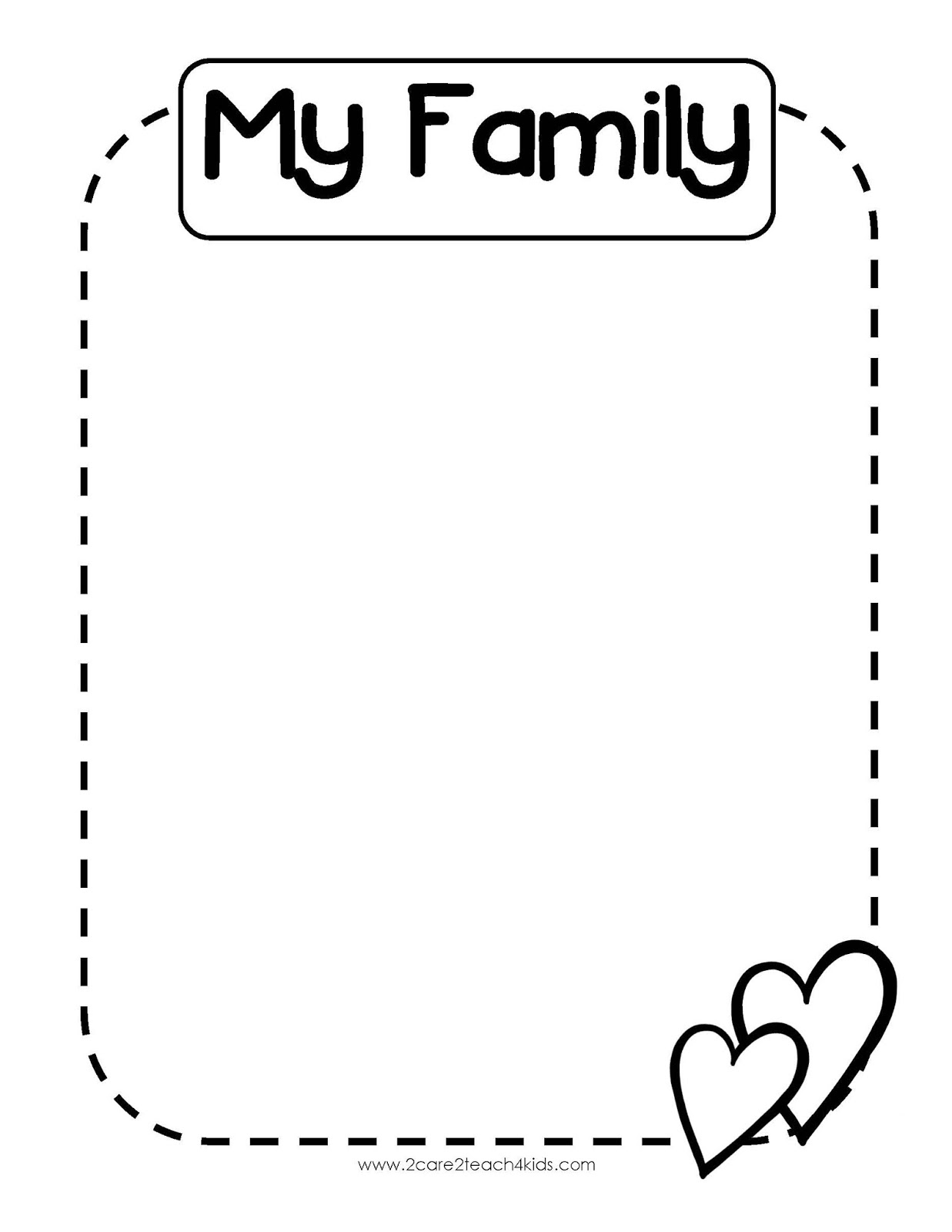 My Family Template Coloring Pages