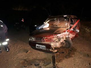Acidente envolvendo dois carros deixa feridos na zona rural de Cuité