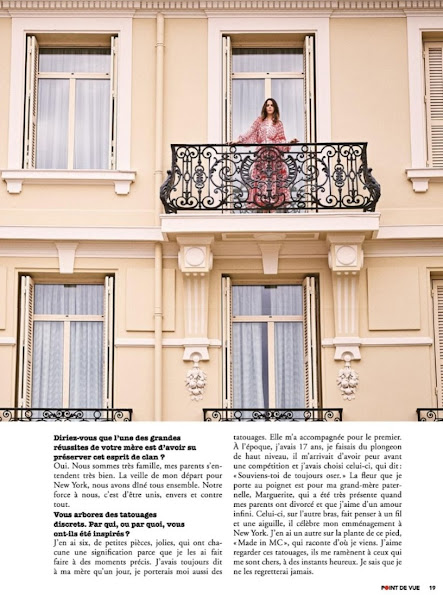 On the last issue of Point de Vue magazine, an interview which bears the photos of Pauline Ducruet daughter of Princess Stephanie of Monaco was published