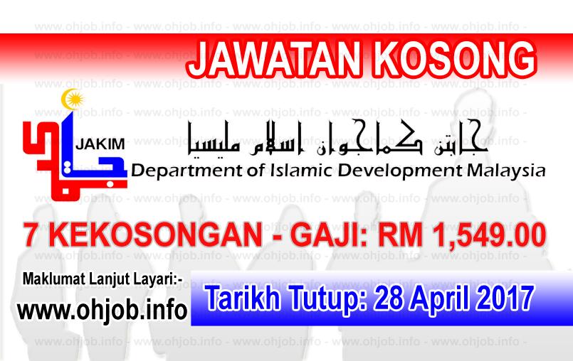 Jawatan Kerja Kosong JAKIM - Jabatan Kemajuan Islam Malaysia logo www.ohjob.info april 2017