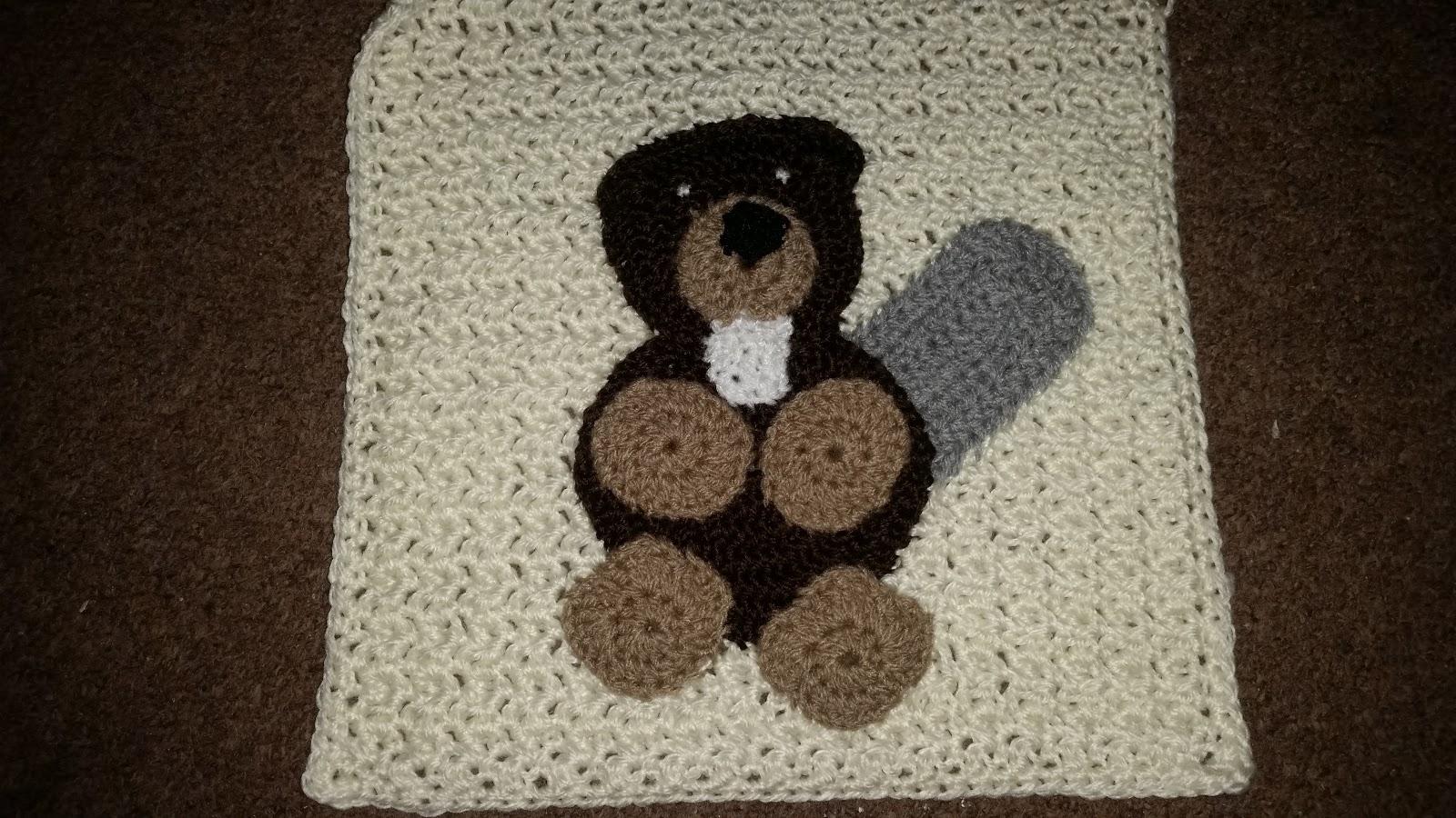 ... Lovely: WIP - Crochet - Woodland Blanket No.2 - Beaver Applique