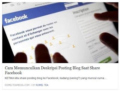 Contoh Tampilan Posting Saat di-Share ke Facebook