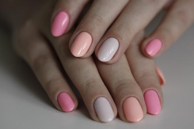 Cukierkowe paznokcie z użyciem Semilaca