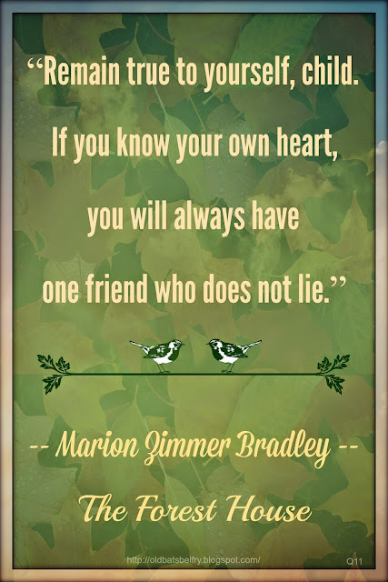 Friendship Quote by Marion Zimmer Bradley ~ Background Design by Mulluane