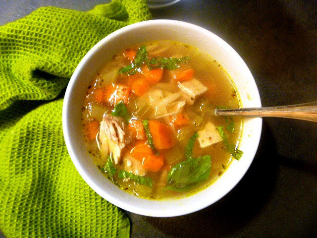 11 Healthy Soups: Italian Style Roasted Chicken and Orzo Soup - Slice of Southern