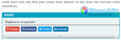 Syntax Demo di Blog