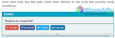 Syntax Demo di Blog