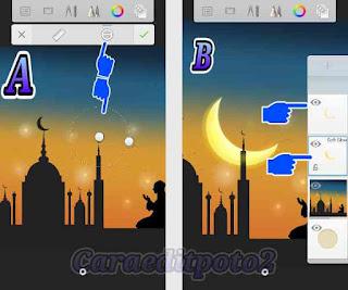 Cara membuat background ramadhan