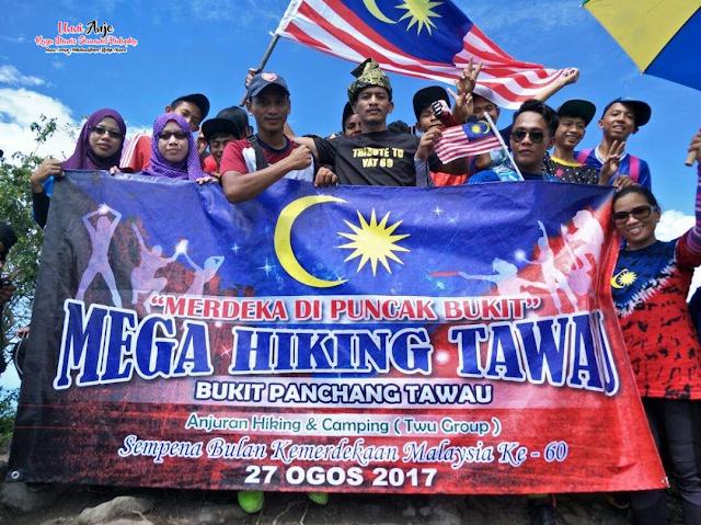 Mega Hiking Tawau Merdeka Di Puncak Bukit Sempena Bulan Kemerdekaan ke-60