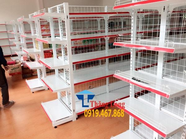 Kích thước tiêu chuẩn kệ siêu thị bày hàng nhà máy sản xuất