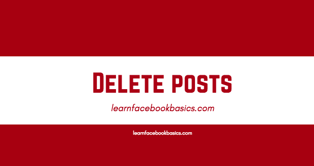 How To Delete Facebook Post From Timeline | Facebook timeline Posts Delete