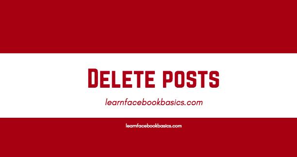 How To Delete Facebook Post From Timeline | Facebook timeline Posts Delete