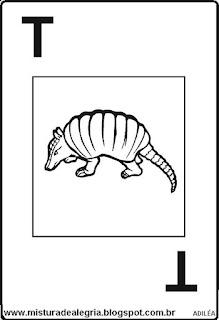 Baralho alfabético letra T