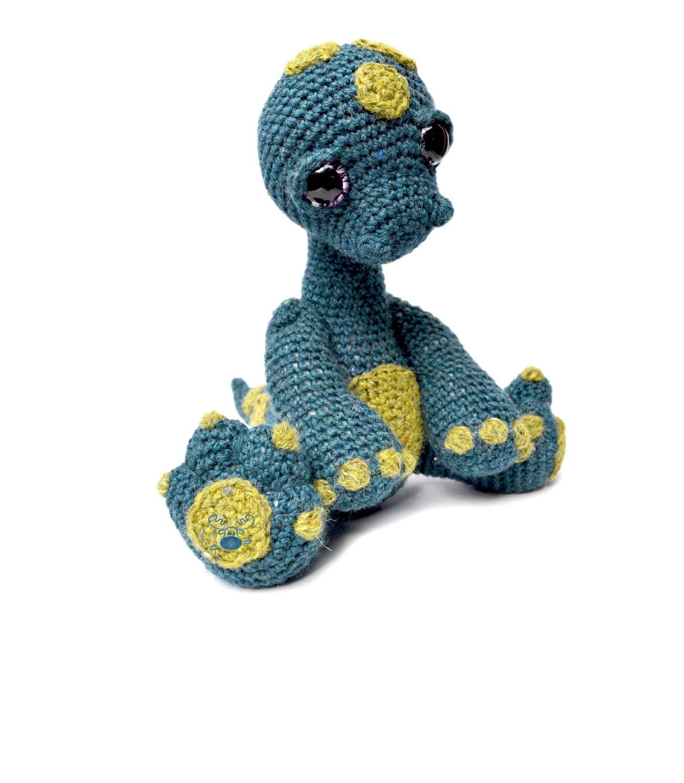 Nessie the Loch Ness Monster Crochet Pattern PDF | Patchwork Moose | 1600x1397