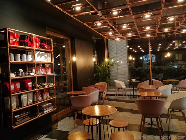 wnętrze kawiarni Odette w Warszawie