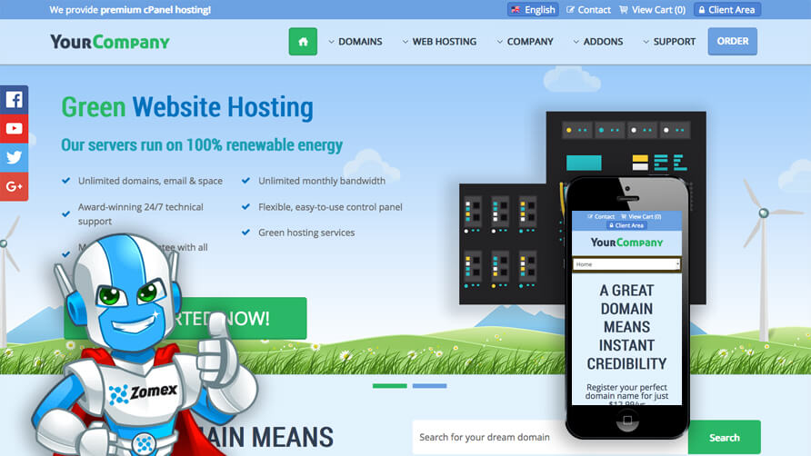 Glaze WHMCS Template v1.1 nulled - AtoZ Null