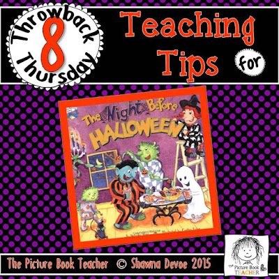 The Night Before Halloween by Natasha Wing TBT - Teaching Tips.
