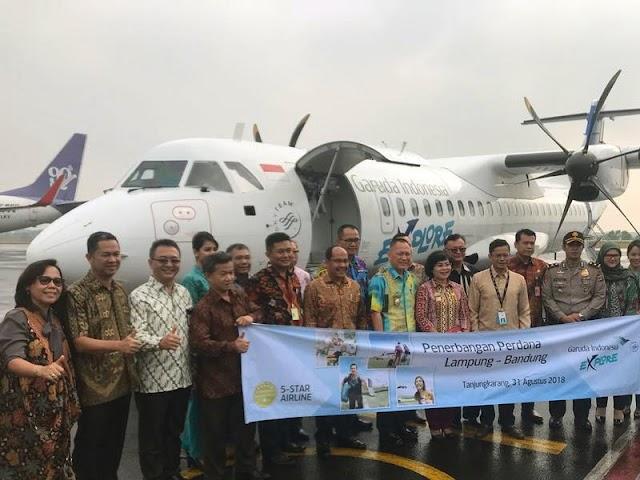 Jadwal dan Harga Tiket Penerbangan Garuda Bandung - Lampung - Padang