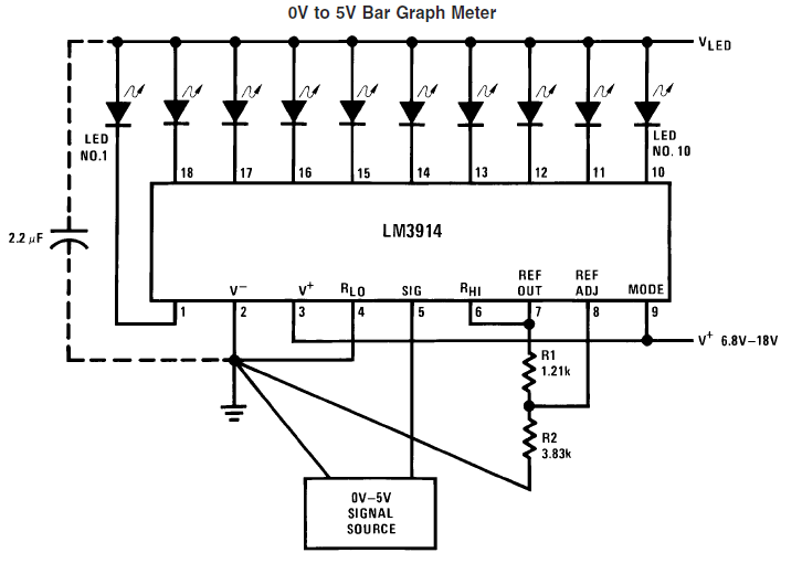 basic circuit for lm3914