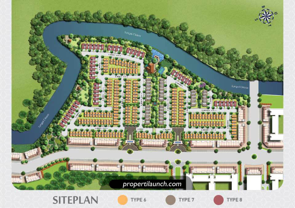 Site Plan Podomoro River View