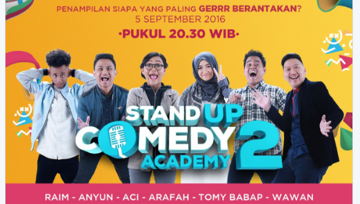 Peserta Stand Up Comedy Academy 2 yang Gantung Mik Tgl 05 September 2016