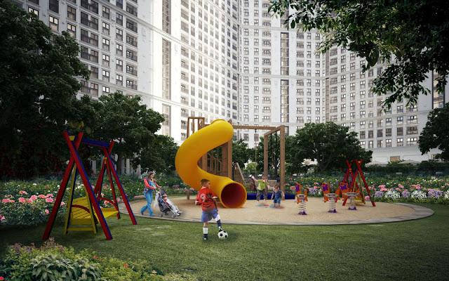 Khuôn viên vui chơi cho trẻ em dự án The Emerald