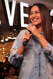 Actress Sonakshi Sinha Pos in Denim Jeans at Forever 21 Shop Launch at Express Avenue Mall  0007.jpg