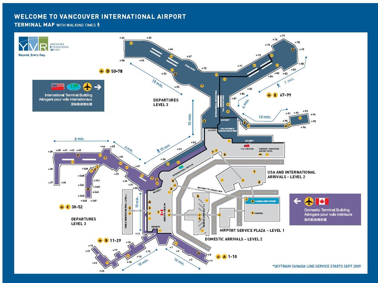 全球機場轉機資訊: 溫哥華國際機場