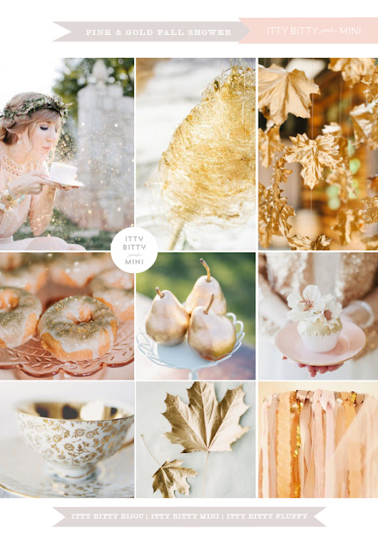 A Pink and Gold Fall Shower - Baby Shower Inspirations by Itty Bitty Mini blog