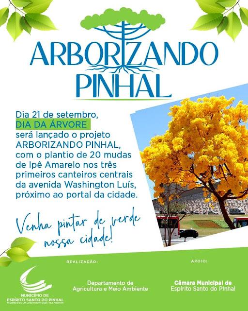 Projeto 'Arborizando Pinhal' realizará plantio de árvores na Avenida Washington Luís