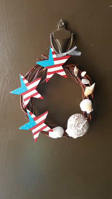 4th of July Seashell Summer Wreath