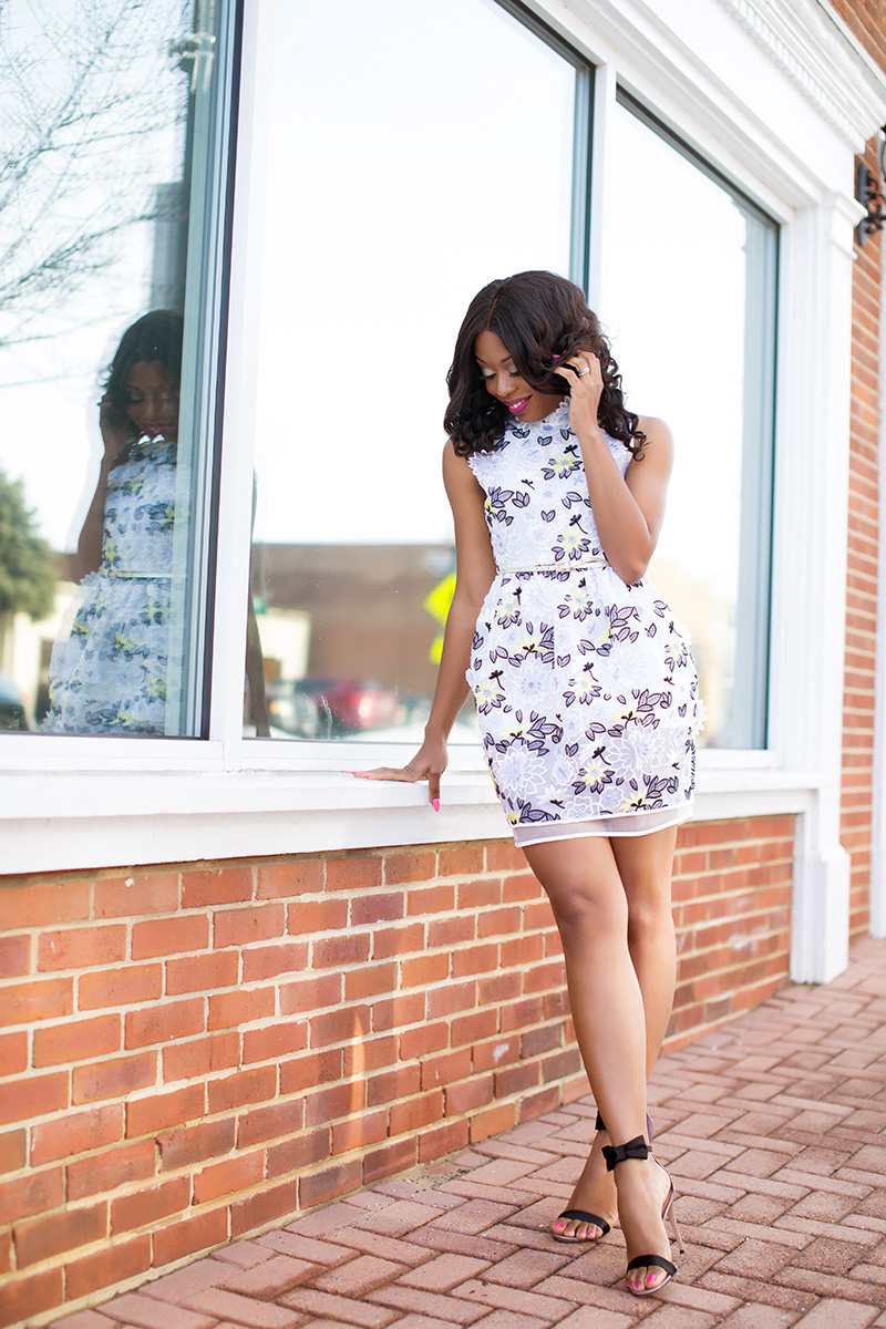 Chicwish mini spring dress, gianvito rossi shoes, www.jadore-fashion.com