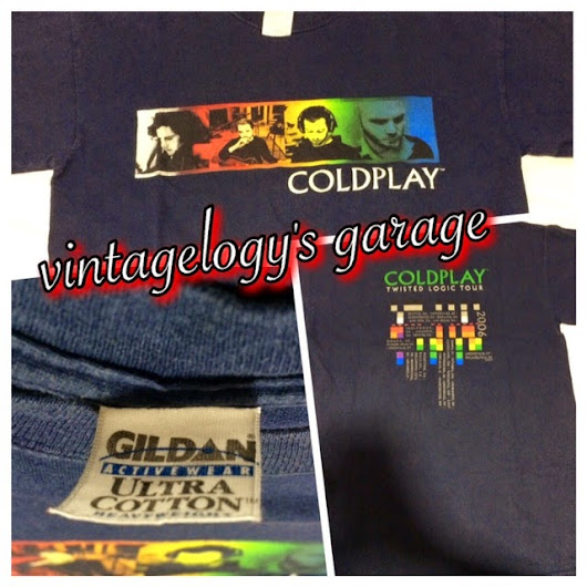PRE-LOVED BAJU BAND / BAND's T/SHIRT - COLDPLAY