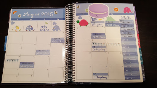 A Look In My Planner: August 2015 Monthly View