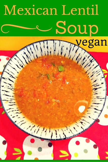 bowl of soup vegan, Mexican, lentil