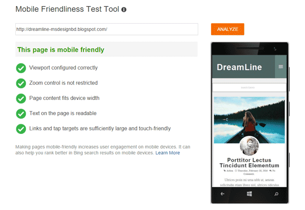 DreamLine Mobile Friendly Blogger Themes