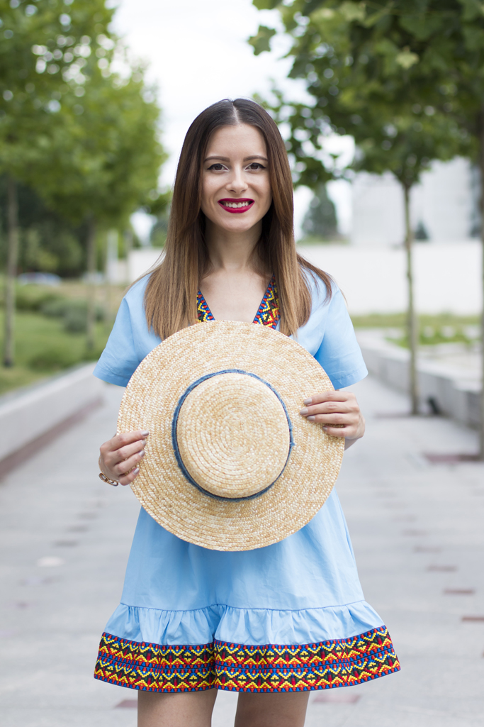 stradivarius straw hat