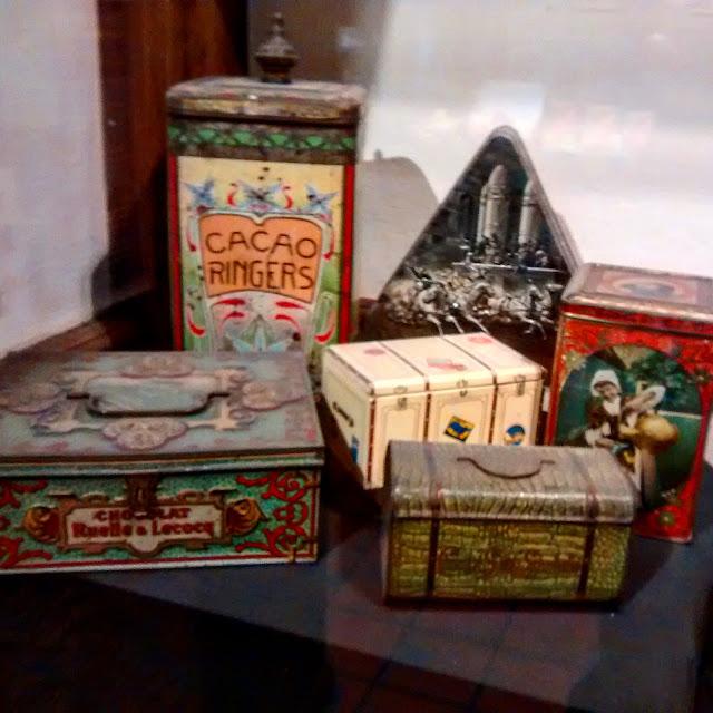 Caixas antigas de chocolate - Museu do Chocolate - Bruxelas - Bélgica