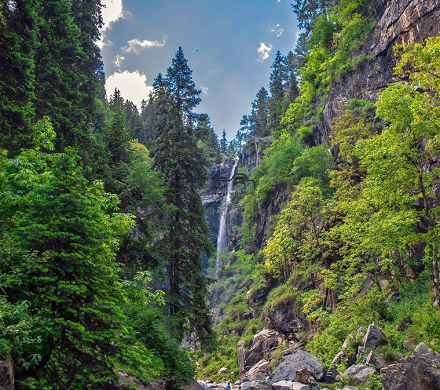 Jarogo Waterfall is a very attractive and unseen beauty of swat.