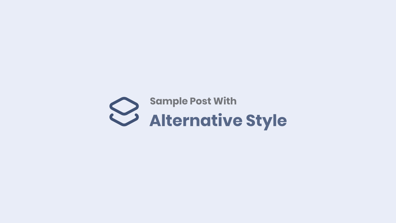 Post With Alternative Style
