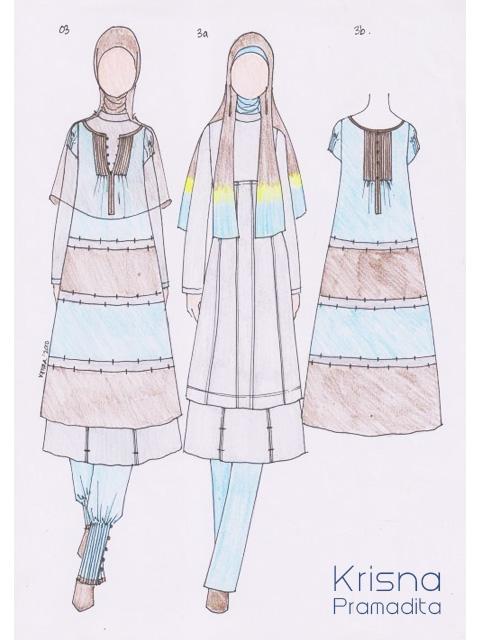 Sketsa Desain Baju Muslim Model Baju Trend 2019