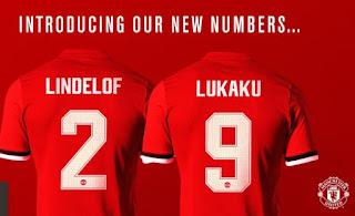 Lindelof dan Lukaku Resmi Gunakan Nomor Punggung 2 dan 9 Manchester United