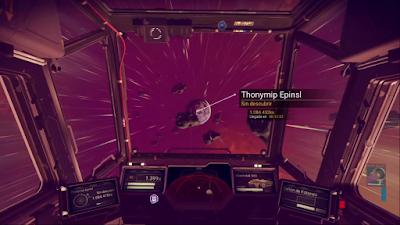 La nave en el espacio se comporta con soltura.