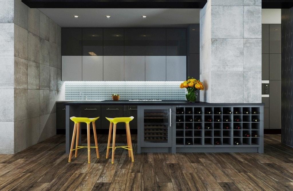 Ideas de revestimientos para las paredes de la cocina for Losetas para cocina modernas