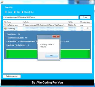 Duplicate Files Detector Source Code