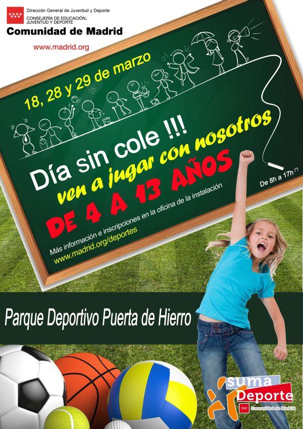Tres jornadas de 'días sin cole' en el Parque Deportivo Puerta de Hierro
