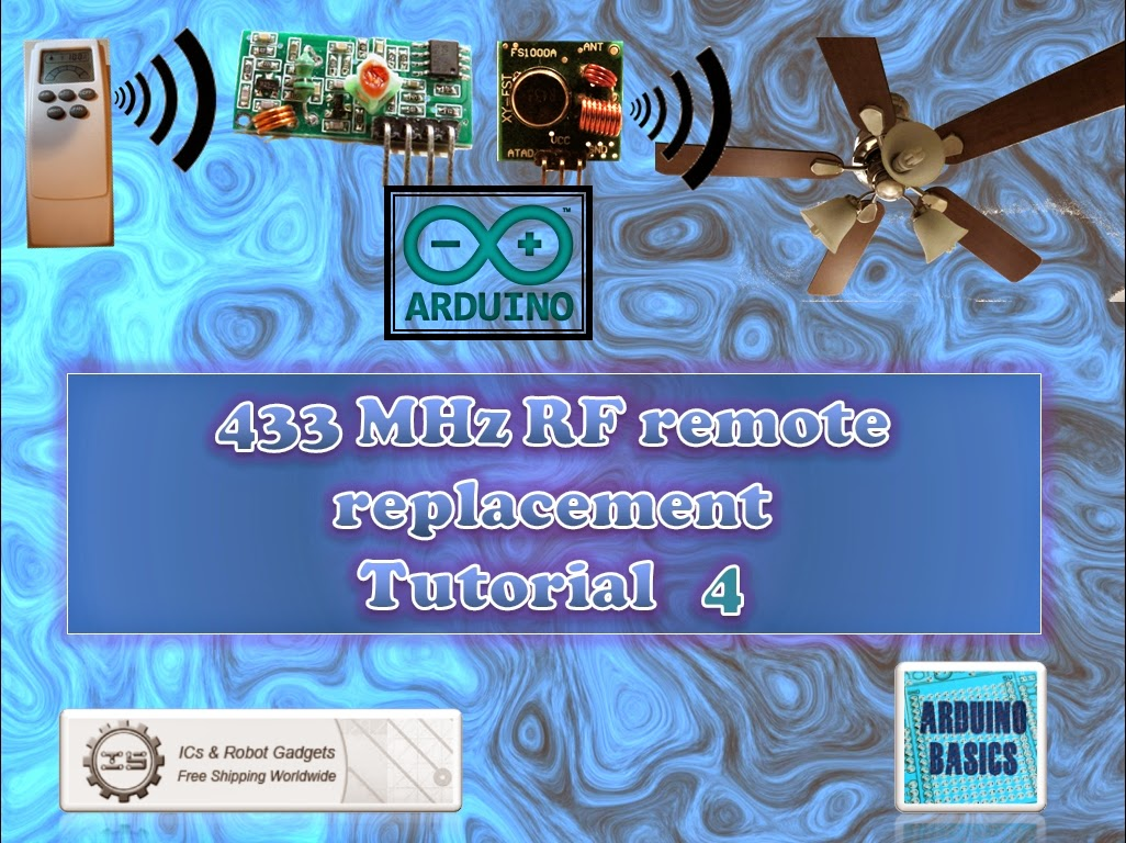 Arduino Basics 433 Mhz Rf Module With Tutorial 4 Can Use The Other Cards This Project For Beginners Good Luck