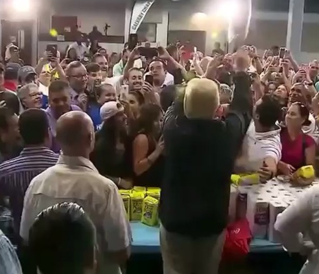 Donald Trump throws toilet paper at Puerto Rico hurricane victims after telling govt officials that they have thrown the US budget out of wack